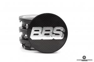 BBS dekielek 2D (srebrne logo / karbonowe tło) / z pierścieniem mocującym